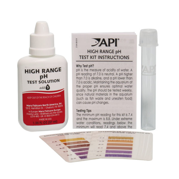 API High Range pH Test Kit Contents